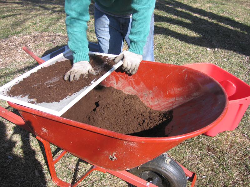 Sifting Peat Moss