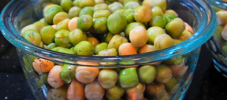 Cascadia Peas soaked