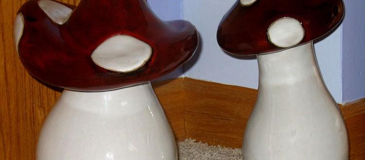 Fun mushroom statues from Pier 1 Imports