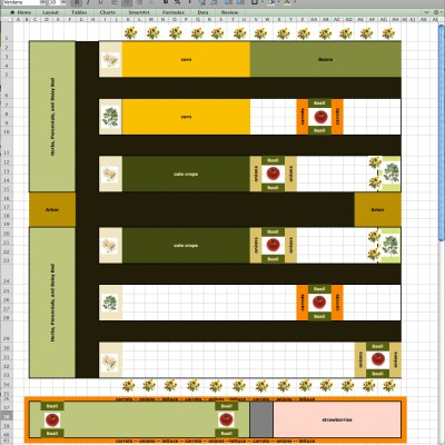 2012 Garden Mock-up in Excel