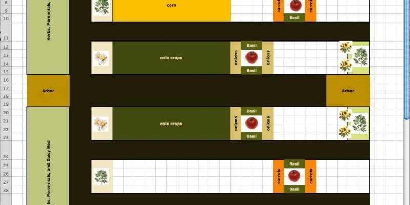 2012 Garden Mock-up in Excel