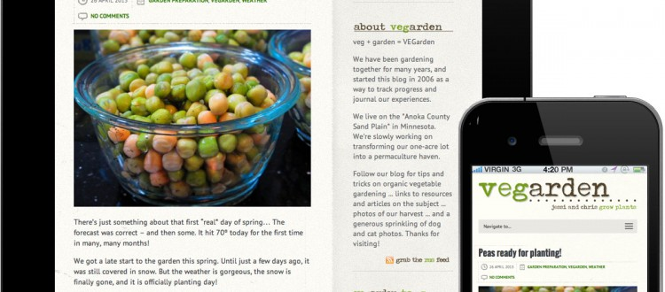 VEGarden - responsive mobile/tablet friendly website design by Iceberg Web Design