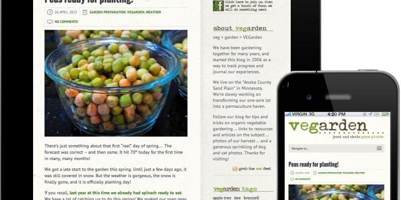 VEGarden - responsive mobile/tablet friendly website design by Iceberg Web Design