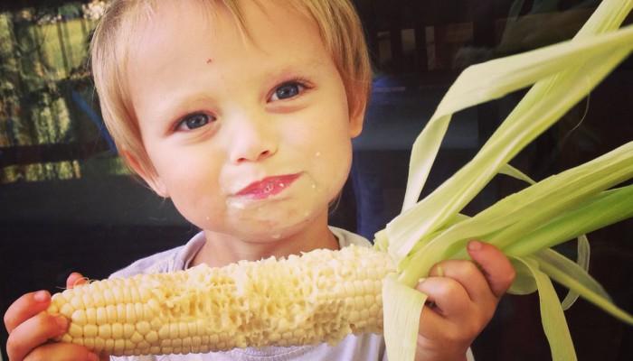 Ate corn raw off the cob...